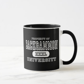 Backgammon University Dark Mug