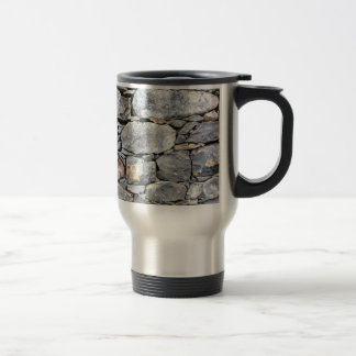 Backgound of natural stones as wall travel mug