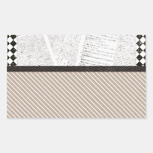 background06 NEUTRAL COLORS SCRAPBOOKING BACKGROUN Rectangle Sticker