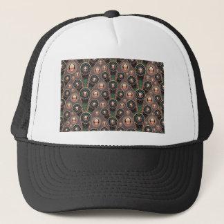 background #52 trucker hat