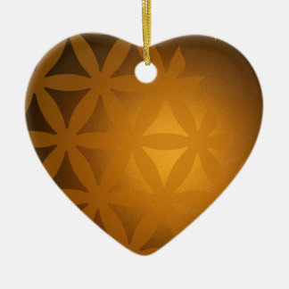background #6 ceramic heart ornament
