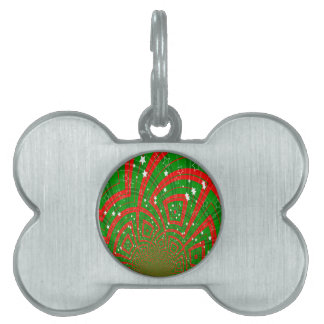 background abstract christmas pattern pet tag