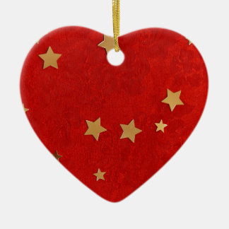 background ceramic heart ornament