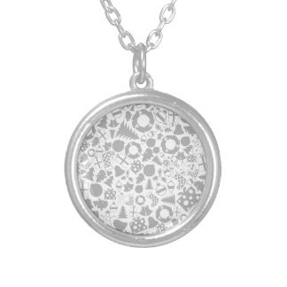 Background Christmas2 Silver Plated Necklace