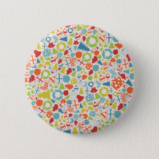 Background Christmas 2 Inch Round Button