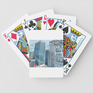 Background City Buildings Scene Bicycle Playing Cards
