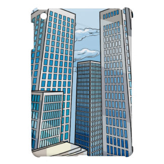 Background City Buildings Scene iPad Mini Covers