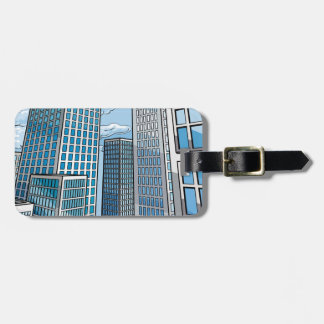 Background City Buildings Scene Luggage Tag