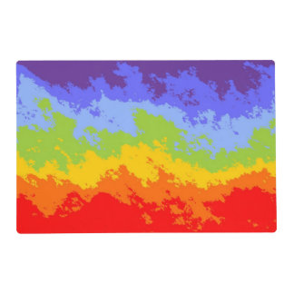 Background Colors of Chakras IX + your ideas Laminated Place Mat