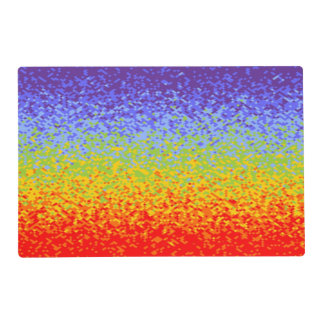 Background Colors of Chakras V + your ideas Laminated Place Mat