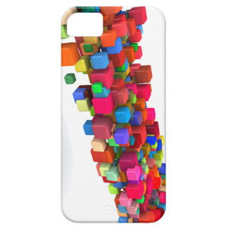 Background Design with Colorful Rainbow Blocks Case For The iPhone 5