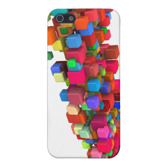 Background Design with Colorful Rainbow Blocks iPhone 5 Cover