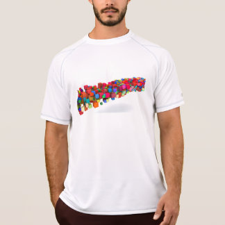Background Design with Colorful Rainbow Blocks T-Shirt