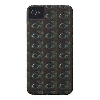 Background DIY Text Template Black Silver Rings Case-Mate iPhone 4 Case