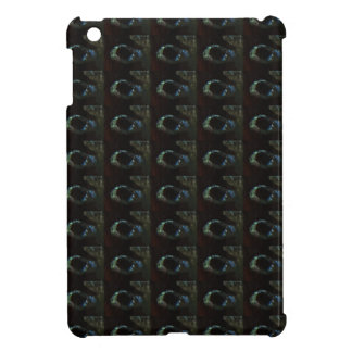 Background DIY Text Template Black Silver Rings iPad Mini Covers