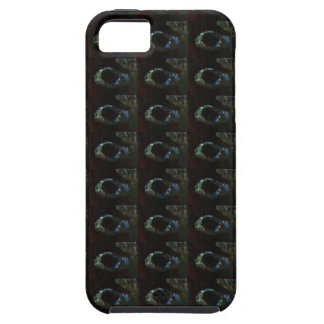 Background DIY Text Template Black Silver Rings iPhone 5 Cover