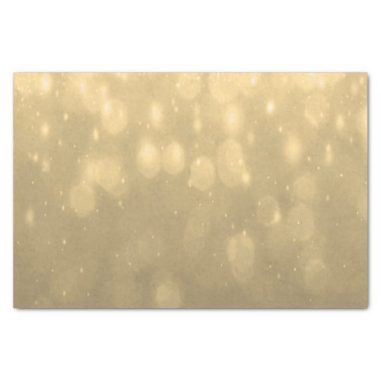 Background - Gold Bokeh Glitter Lights Tissue Paper