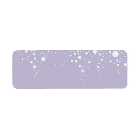 Background - Lavender Glitter Stars Return Address Label