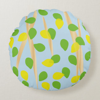 Background Melody Round Pillow