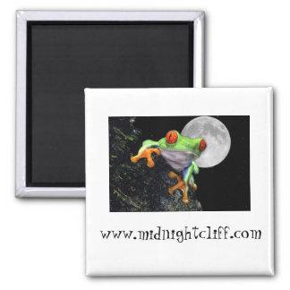 background midnightcliff frog, www.midnightclif... magnet