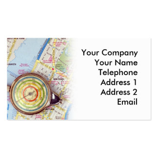 Background of a Travel Map Business Cards