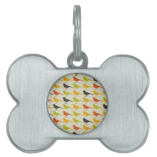 Background of birds2 pet ID tags