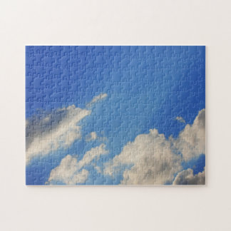 Background of blue sky. puzzle