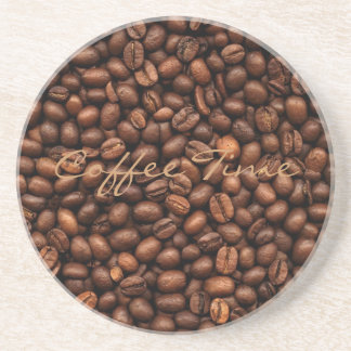 Background Of Coffee Beans Coaster