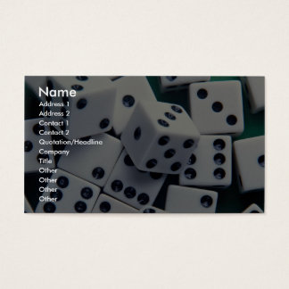 Background of dice business card