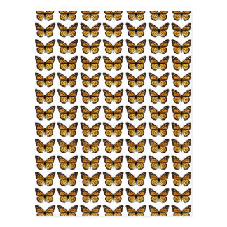 Background of multiple monarch butterflies postcard