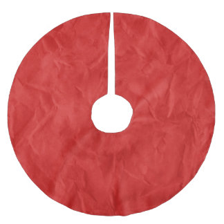 Background PAPER TEXTURE - dirty red Brushed Polyester Tree Skirt