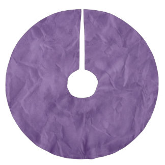 Background PAPER TEXTURE - dirty violet Brushed Polyester Tree Skirt