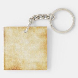 Background | Parchment Paper Double-Sided Square Acrylic Keychain