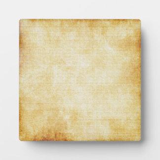 background - Parchment Paper Plaque