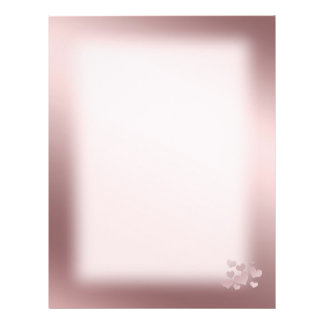 Background  pink Color with pearl hearts Custom Flyer