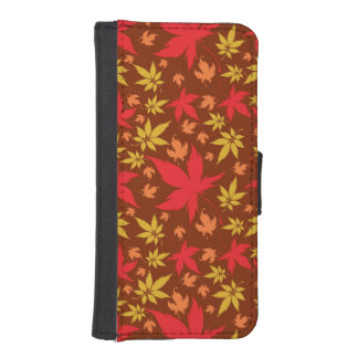 Background with colorful Autumn Leaves Phone Wallets
