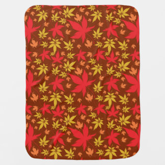 Background with colorful Autumn Leaves Receiving Blanket