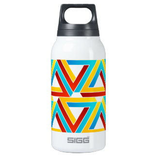 Background with Pen rose triangles Insulated Water Bottle