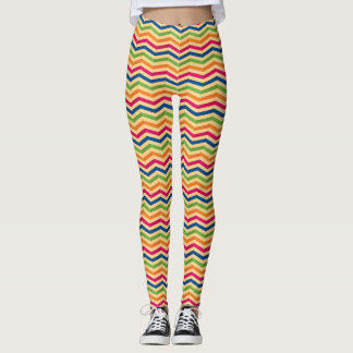 Background with stripes in retro leggings