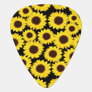 Background with sunflowers guitar pick