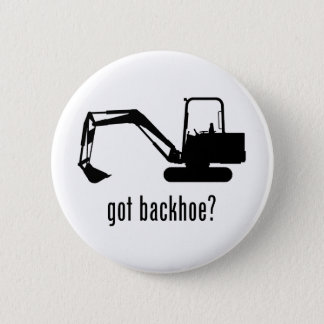 Backhoe 2 Inch Round Button