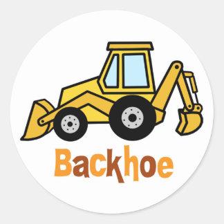 Backhoe Classic Round Sticker