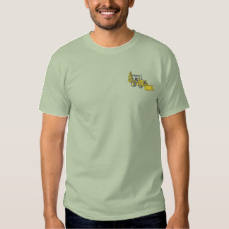 Backhoe Loader Embroidered T-Shirt