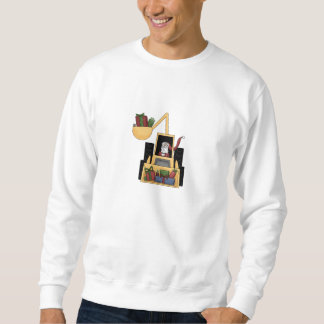 Backhoe Santa Sweatshirt