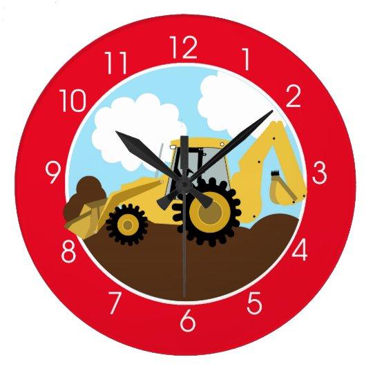 Backhoe Wall Clock