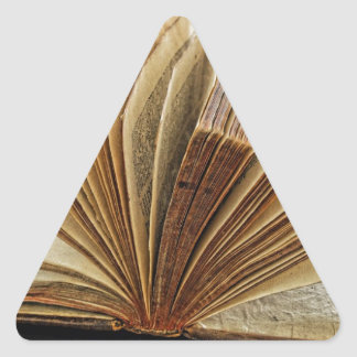 Backlit antique book triangle sticker