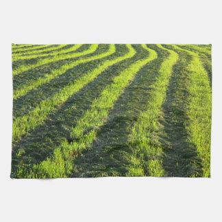 Backlit farmland towel