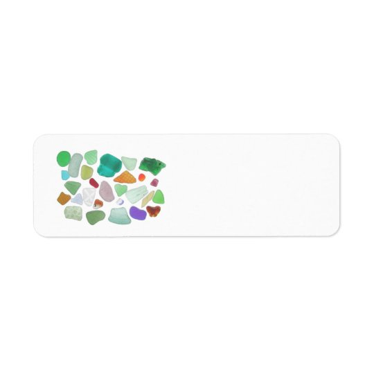 Backlit Sea Glass Return Address Label