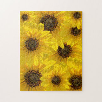 Backlit Sunflower (Helianthus) Jigsaw Puzzle