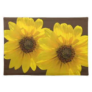 Backlit Sunflower (Helianthus) Placemat